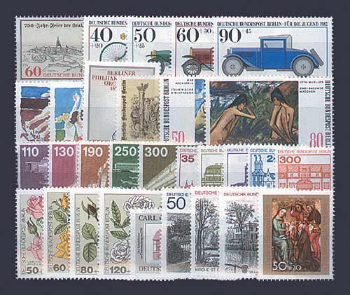 berlin jahrgang 1982 mnh postfrisch gestempelt komplett nr 659 688 ebay. Black Bedroom Furniture Sets. Home Design Ideas