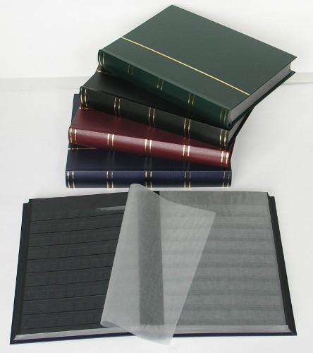60-schwarze-Seiten-Einsteckbuch-Einsteckalbum-Briefmarkenalbum