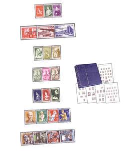 Leuchtturm Vordruckalbum SF Saarland 1947-1959 mit 7 postfrischen Sätzen Briefmarke