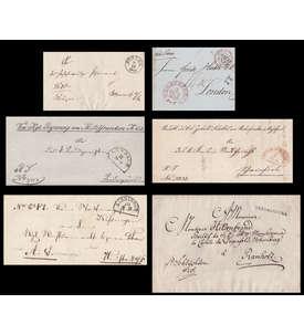 Vorphilatelie - 6 verschiedene deutsche Belege Briefmarke