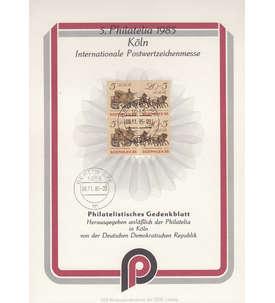 DDR Kollektion mit Gedenkblatt