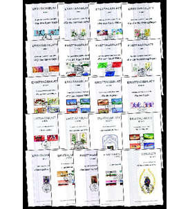 Berlin 21 ver. Ersttagsblätter nur Zuschlagsausgaben Briefmarke
