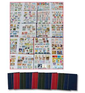 10 Alben mit 2000 verschiedenen Werten Briefmarke