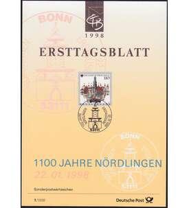 BRD Bund ETB 1998 Briefmarke