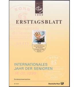 BRD Bund ETB 1999 Briefmarke