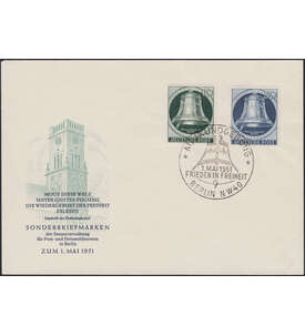 Berlin Nr. 76/78 FDC           Glocke Klöppel links
