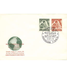 Berlin Nr. 80-81 FDC           Tag der Briefmarke 1951