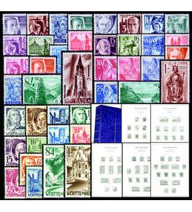 Französische Zone 1945-1949 LT-Vordruckalbum mit 3 Sätzen Briefmarke