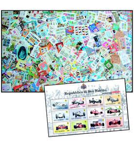 500 Blocks + Kleinbogen mit San Marino Kleinbogen Briefmarke