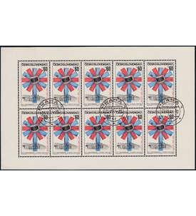 Blocks und Kleinbogen mit KB CSSR Nr. 1477 gestempelt Briefmarke