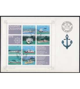 Westeuropa mit Schweiz Block 23 auf Brief Briefmarke