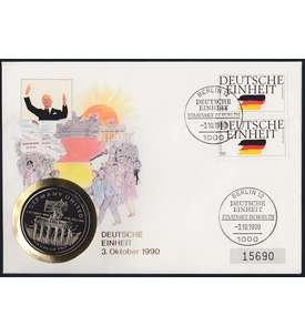 DEUTSCHE EINHEIT Spezialbeleg silber Briefmarke