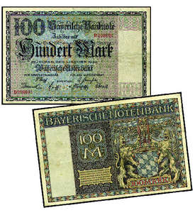 100 Mark Bayerische Notenbank