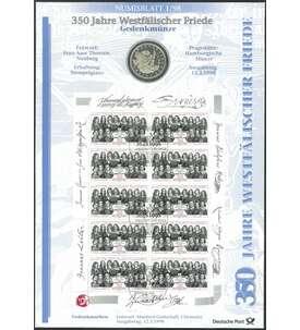 Goldhahn BRD Bund Numisblatt 3//2000 250 Todestag Johann Sebastian Bach Briefmarken f/ür Sammler