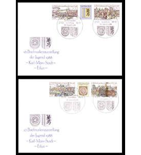 DDR Komplettausgaben gestempelt mit Ersttagsbriefen Nr.3173/76 Briefmarke