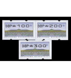 BRD Bund ATM2.2.1 VS1 postfrisch ** waagerechte rückseitige Nr 100/200/300 Pfennig