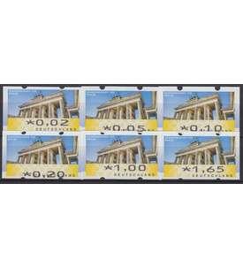 BRD Bund ATM 6 VS4 postfrisch ** 002/005/010/020/100/165 Cent