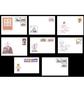 DDR 8 Ganzsachenumschläge postfrisch ** Briefmarke