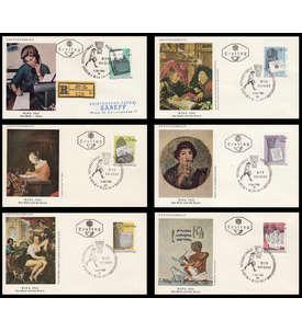 Europa Kollektion mit Österreich Nr. 1184-1189 FDC Briefmarke