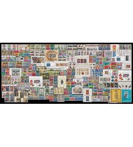 BRD/Berlin/DDR 100 Sätze/Block auf 100 Steckkarten Briefmarke