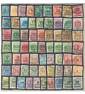Deutsches Reich Nr. 274-337A 64 Werte