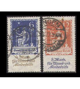 Deutsches Reich 1921/1923 gestempelt mit Nr. 233-234 Briefmarke