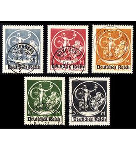 Deutsches Reich Superlot gestempelt mit Nr. 134-138 Briefmarke