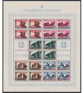 Deutsche Besetzung Serbien Nr.94-98 Kleinbogen postfrisch ** Briefmarke