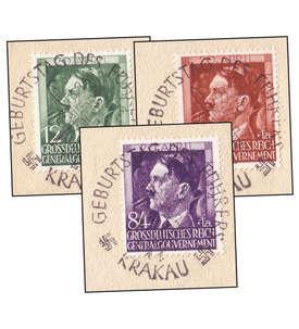 Generalgouvernement Nr. 117-119 Abschnitte mit Sonderstempel Briefmarke