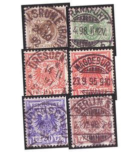 Deutsches Reich Nr. 45-48,50 gestempelt 10 Pfennig in 2 Farben Briefmarke