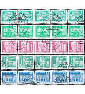 DDR Rollenstreifen gestempelt Briefmarke