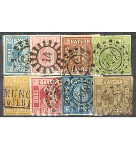 Bayern Quadratausgaben gestempelt Briefmarke