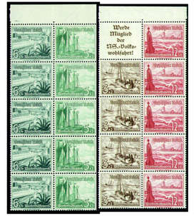 Deutsches Reich Markenheftblätter Nr. 109+110 postfrisch