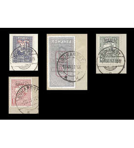 Deutsche Besetzung Rumänien Fiskalmarken Nr. I-III,V gestempelt Briefmarke