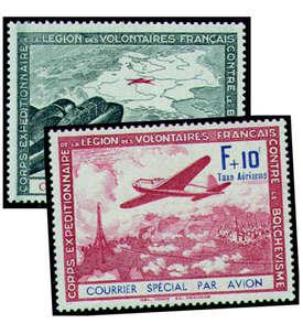 Deutsche Besetzung Frankreich Nr. IIb+III postfrisch Briefmarke