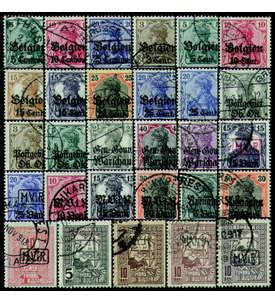 Deutsche Besetzung 1. Weltkrieg gestempelt Briefmarke