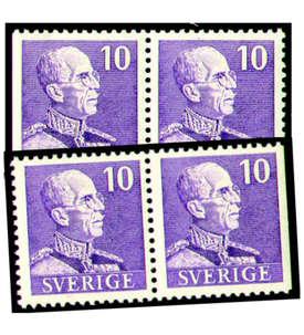 Schweden Nr. 263B/Dr+Dl/B postfrisch ** Briefmarke