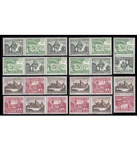 Deutsches Reich Zusammendrucke SK35-36,W136-39,144-47 postfrisch