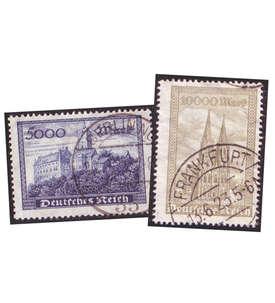 Deutsches Reich bis 1932 gestempelt mit Nr. 261-262 Briefmarke
