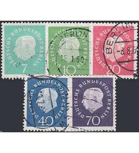 Berlin Freimarken gestempelt mit Nr. 182-186 Briefmarke