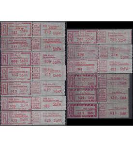 DDR 13 Einschreibegebührenzettel postfrisch ** Briefmarke