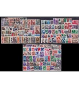 Sowjetunion gestempelt aus 1945-1949 mit Nr. 1092-1097, 1162-1167B,1316-1317,1391 Briefmarke
