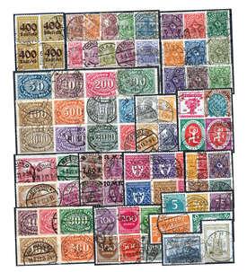 Deutsches Reich Inflation gestempelt nur komplette Sätze Briefmarke