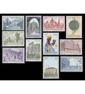 Luxemburg postfrisch ** mit Nr. 667-677 Briefmarke