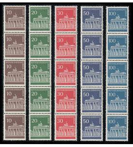 Berlin Nr. 286-290 postfrisch ** 5er-Rollenstreifen