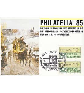 BRD Bund ATM 10 Pfg. ungeschnittenes Paar auf Sammlerkarte Briefmarke