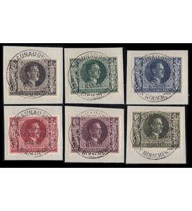 Deutsches Reich Nr. 844-849 auf Briefstücken mit Stempeln vom 20.April Briefmarke