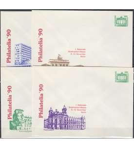 DDR 4 Ganzsachenumschläge PU17/2-5 postfrisch Briefmarke