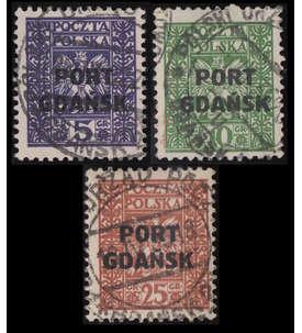 Danzig Post Gdansk Nr. 20-22 gestempelt Briefmarke
