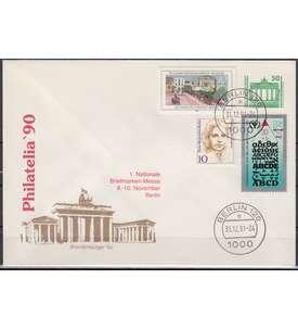 Deutschland Schmuckbeleg mit BRD/Berlin/DDR+Deutsche Post Briefmarke